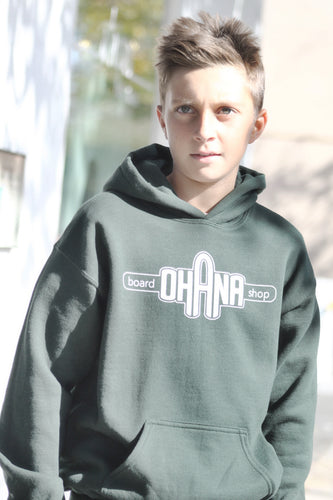 Ohana Board Shop Hoodie, Forest (Youth)