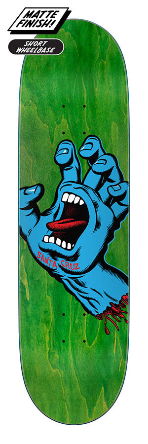 Santa Cruz Skateboards Screaming Hand Matte Green Skateboard Deck - 8.8