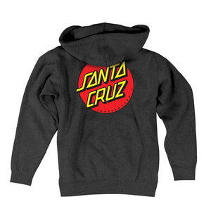 Santa Cruz Hoodie (Youth) - Charcoal Grey  with Red Dot