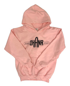 NEW! Ohana Board Shop Hoodie, Pink (Youth)
