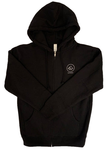 NEW! OHANA Zip Up Hoodie, Black