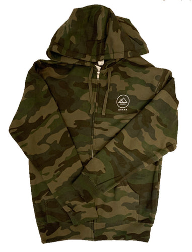 NEW! OHANA Zip Up Hoodie, Camo