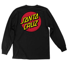 Load image into Gallery viewer, Santa Cruz Long-Sleeve Shirt (Men's) - Black with Red Dot