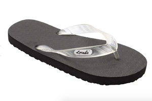 Locals Hawaiian Flip Flops (Adult), Clear Strap