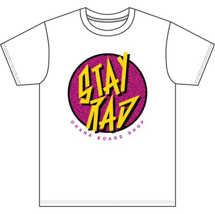 STAY RAD T-Shirt - White (Adult)
