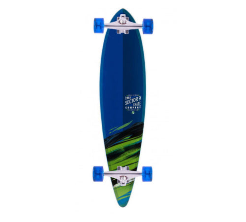 Sector 9 Longboard - Blue, Green Fade