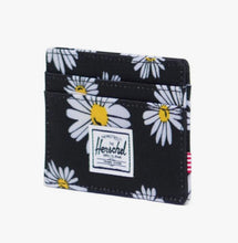 Load image into Gallery viewer, Herschel Wallet - Charlie, Black/Daisy