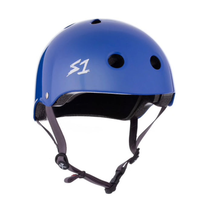 S1 Helmets (Skate + Bike Certified) - Lifer for ages 5/6 to adult, LA Blue Gloss