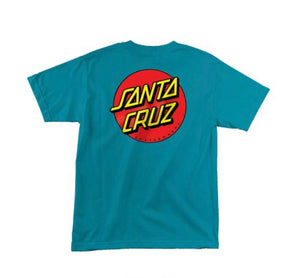 Santa Cruz T-Shirt, Turquoise (Youth)