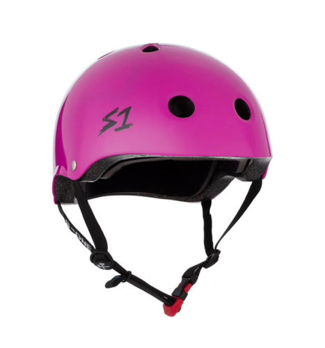 S1 Helmets (Skate + Bike Certified) - Mini for ages 3-5/6, Bright Purple