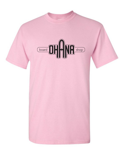 Ohana Board Shop T-Shirt, Light Pink (Adult)