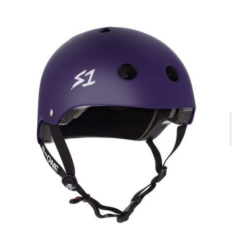 S1 Helmets (Skate + Bike Certified) - Lifer for ages 5/6 to adult, Purple Matte
