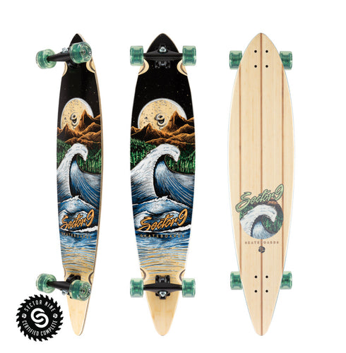 Sector 9 Longboard - Bamboo Moon Wave