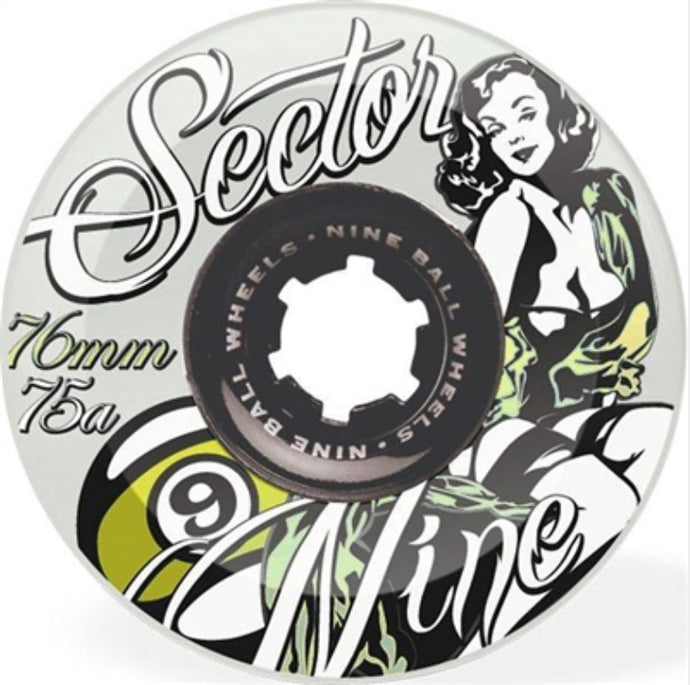 Sector 9 Wheels - 76mm 78A - Goddess of Speed - Yellow