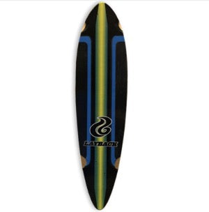 "Build-Your-Own-Longboard - 46"" Pintail Longboard, Racing Stripes"