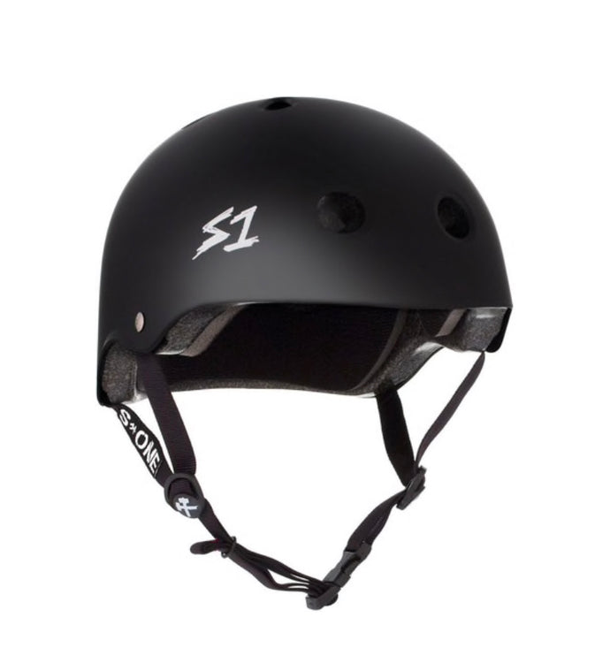 S1 Helmets (Skate + Bike Certified) - Mega for extra large melons, Black