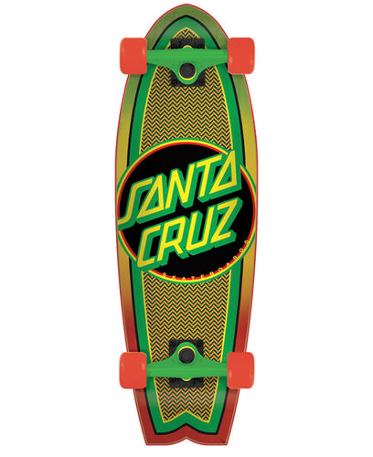 Santa Cruz Rasta Weave Dot Shark Cruiser  - 28 inches