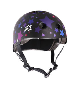 NEW! S1 Helmets (Skate + Bike Certified) - Lifer for ages 5/6 to adult, Black with Colored STARS