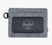 Load image into Gallery viewer, Herschel Wallet - Charlie Wallet ID, Raven Crosshatch