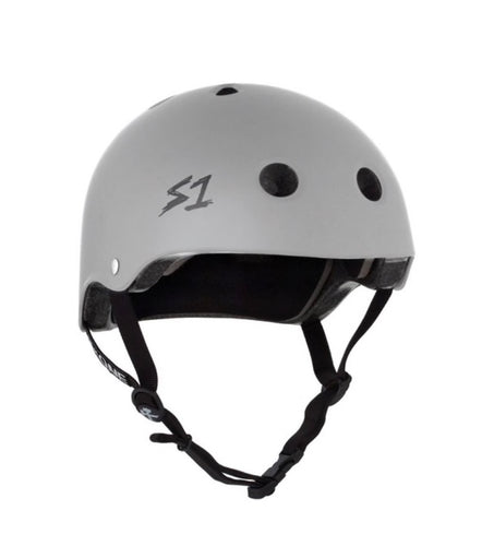 S1 Helmets (Skate + Bike Certified) - Lifer for ages 5/6 to adult, Light Grey Matte