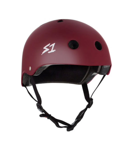 S1 Helmets (Skate + Bike Certified) - Lifer for ages 5/6 to adult, Maroon