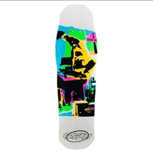 "HOSOI SKATEBOARDS POP ART 87 (SMALL) DECK- 8.875""X32"