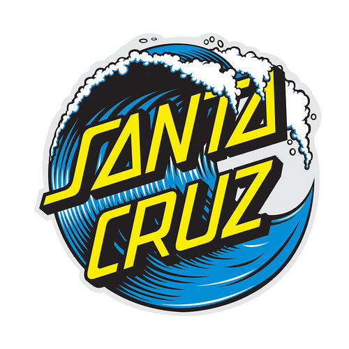 Santa Cruz Wave Dot Sticker - 3 inches