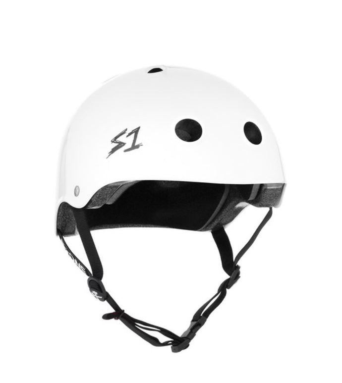 S1 Helmets (Skate + Bike Certified) - Lifer for ages 5/6 to adult, White