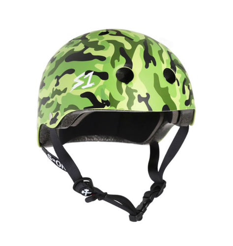 NEW! S1 Helmets (Skate + Bike Certified) - Lifer for ages 5/6 to adult, Green Camo