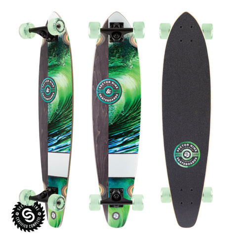Sector 9 Longboard - Green Wave