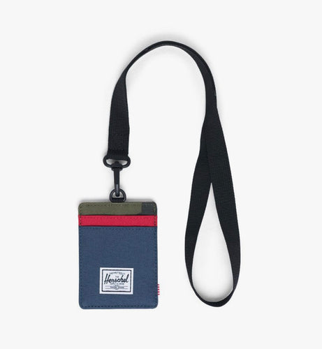 Herschel Wallet - Charlie with Lanyard, Navy/Camo