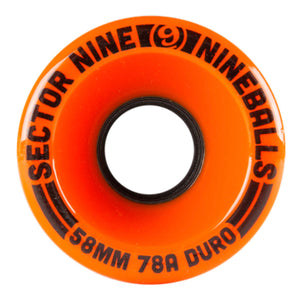 Sector 9 Wheels - 58mm 78A - Nineball - Orange