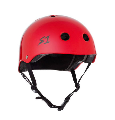 S1 Helmets (Skate + Bike Certified) - Mini for ages 3-5/6, Red