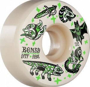 NEW! Bones - Dark Knights STF 53mm, White (99a)