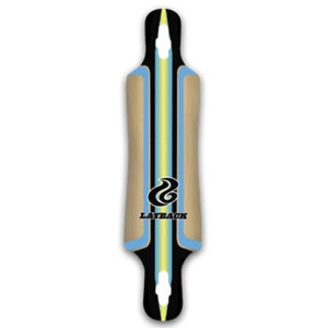 "Build-Your-Own-Longboard - 42"" Drop Thru, Blue Racing Stripe (Best for beginners!)"