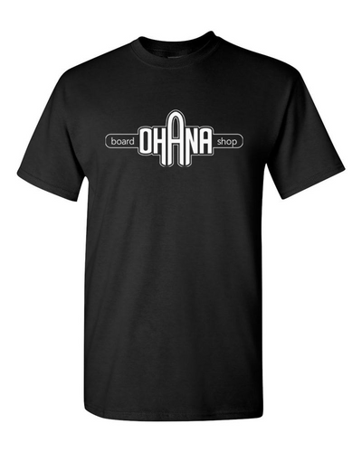 Ohana Board Shop T-Shirt, Black (Adult)