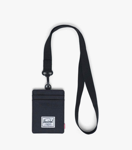 Herschel Wallet - Charlie with Lanyard, Black