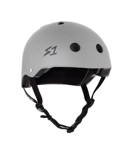 NEW! S1 Helmets (Skate + Bike Certified) - Mega for extra large melons, Matte Grey
