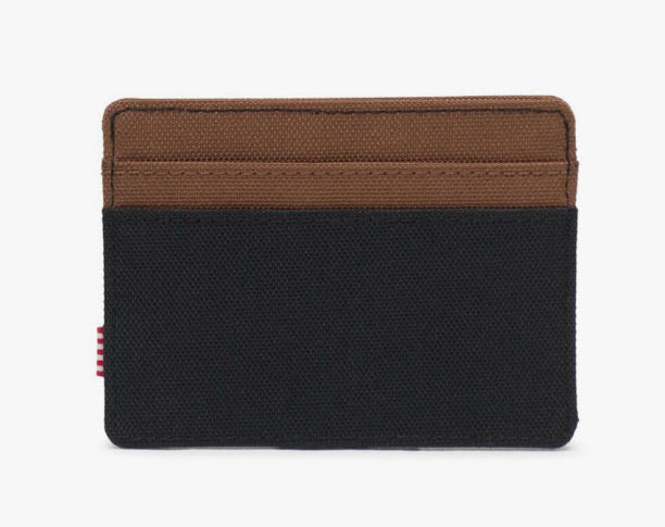 Herschel Wallet - Charlie, Black/Tan