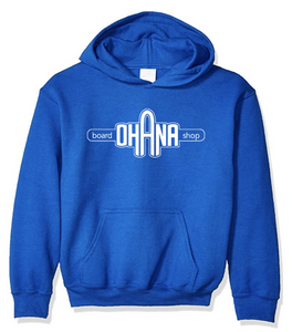 Ohana Board Shop Hoodie, Royal (Youth)