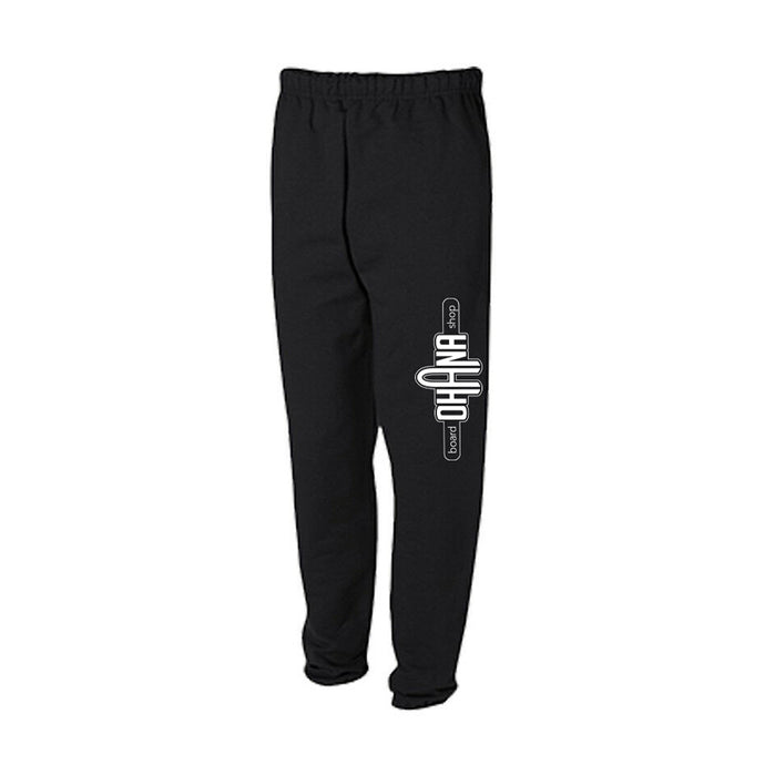 Ohana Board Shop Sweatpants, Black
