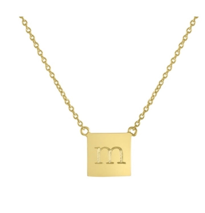 Single Initial Engraved Necklace