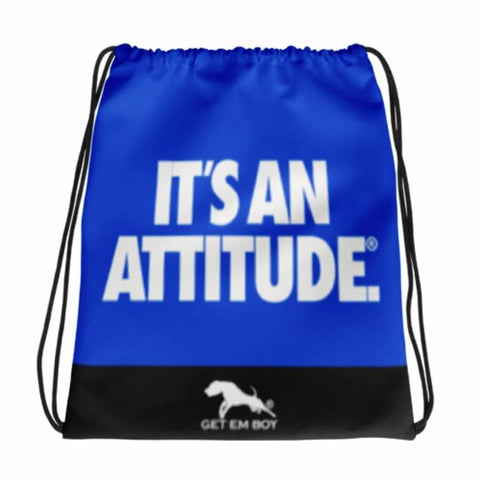BACKPACKS - GETEMBOY® DRAWSTRING BACKPACK IT'S AN ATTITUDE BLUE