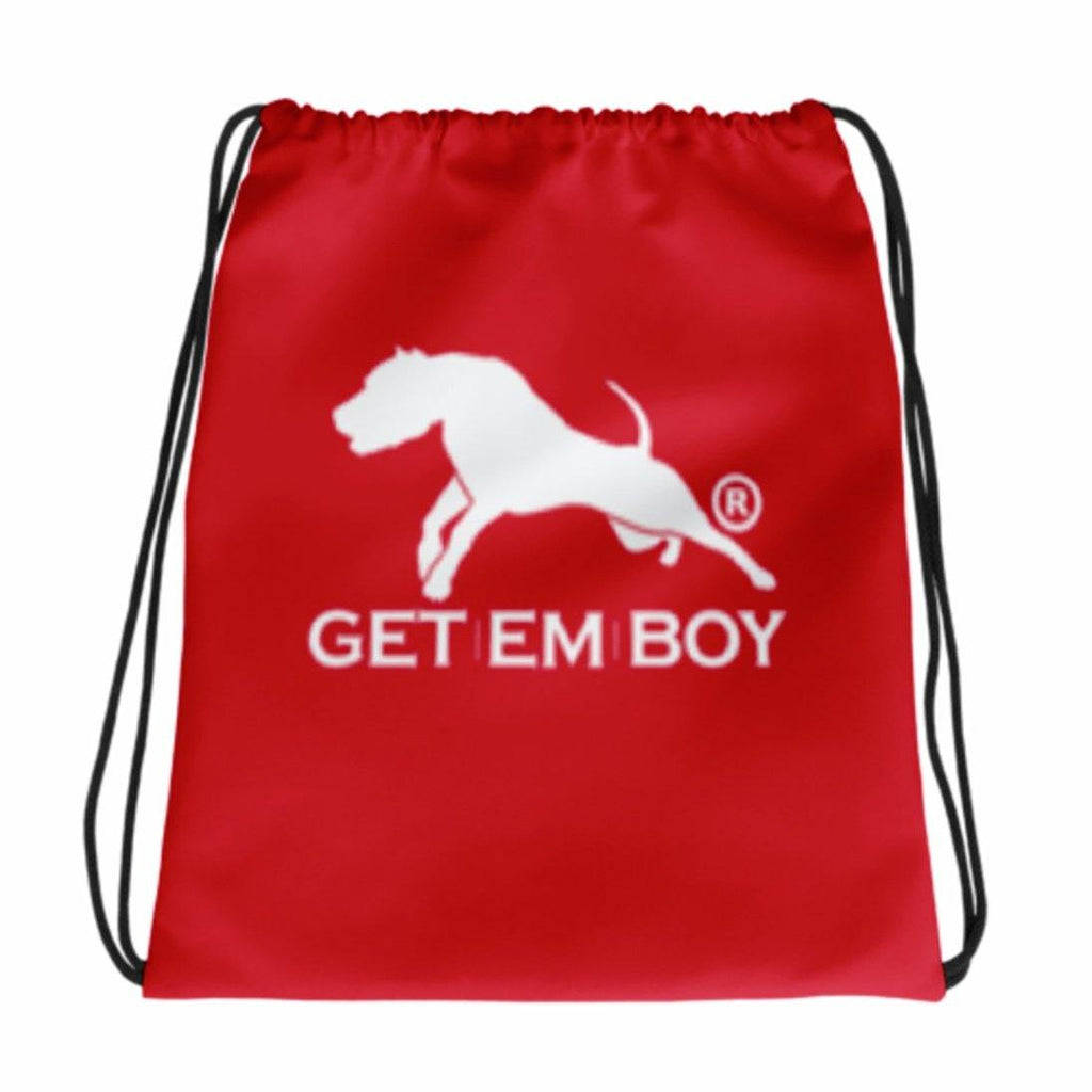 BACKPACKS - GETEMBOY® DRAWSTRING BACKPACK RED