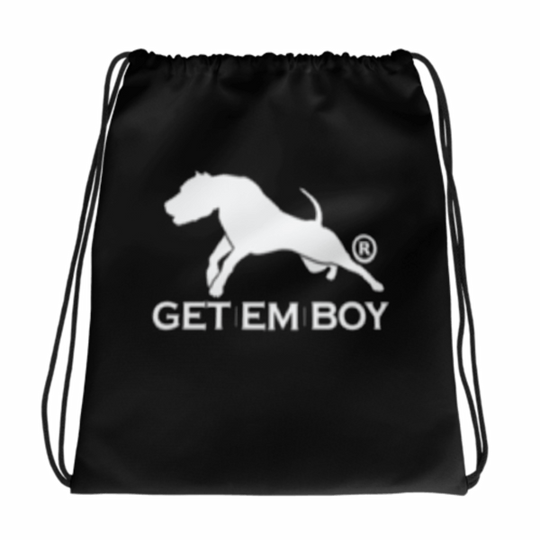 BACKPACKS - GETEMBOY® DRAWSTRING BACKPACK TRADEMARK BLACK