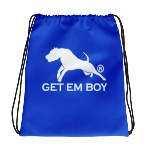 BACKPACKS - GETEMBOY® DRAWSTRING BACKPACK TRADEMARK BLUE