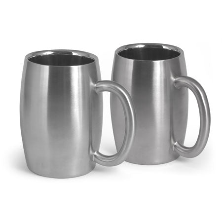 Stainless Steel Beer Mug - Set of 2