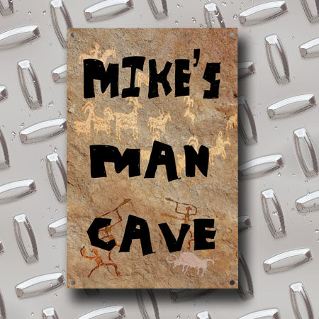 Personalized Metal Man Cave Sign