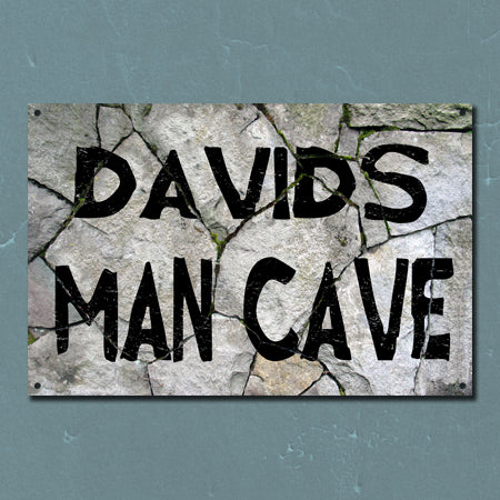 Personalized Rock Man Cave Metal Sign