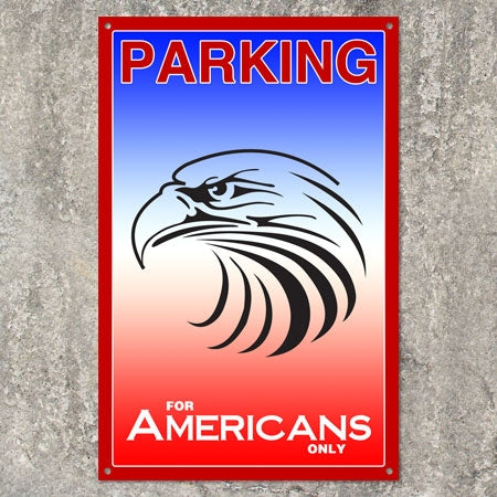 American Eagle Metal Parking Sign